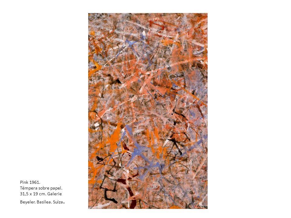 Pink 1961. Témpera sobre papel. 31,5 x 19 cm. Galerie Beyeler. Basilea. Suiza.
