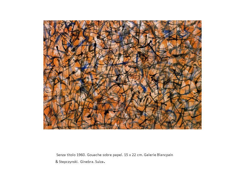 Senza titolo 1960. Gouache sobre papel. 15 x 22 cm.