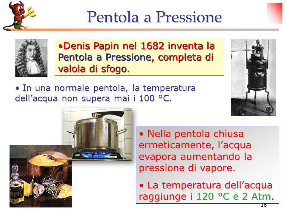 © Dario Bressanini16 Denis Papin nel 1682 inventa la Pentola a Pressione, completa di valola di sfogo.Denis Papin nel 1682 inventa la Pentola a Pressi