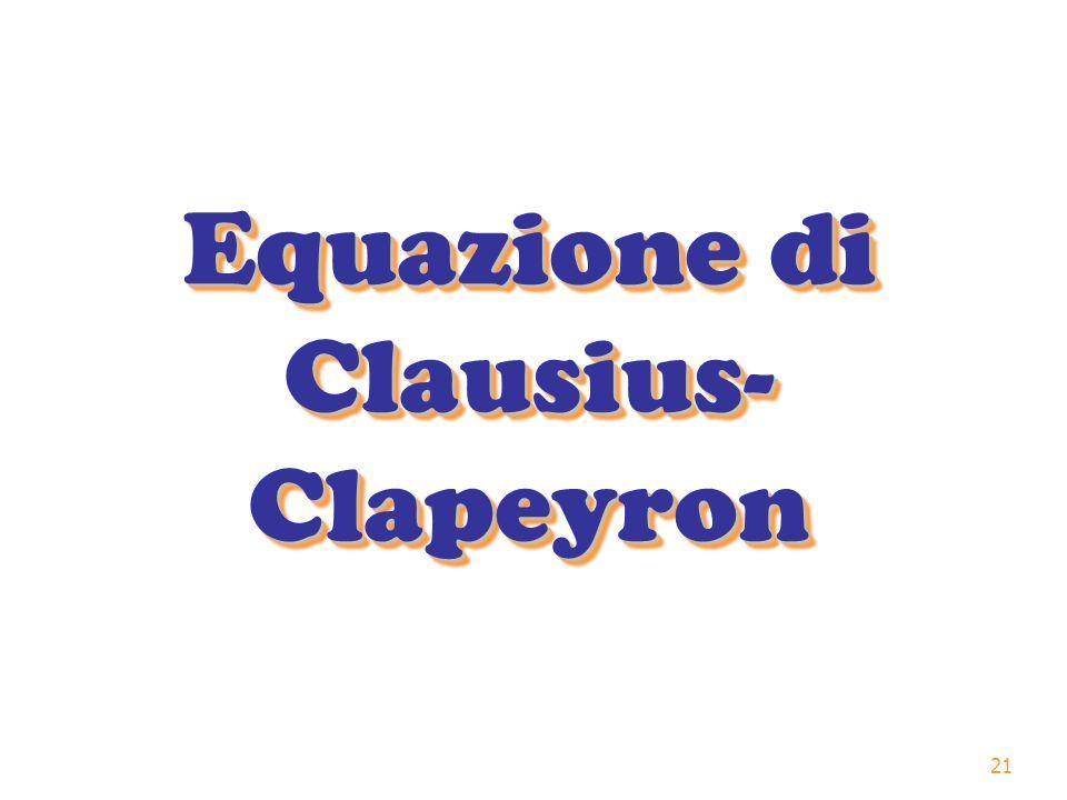 21 Equazione di Clausius- Clapeyron