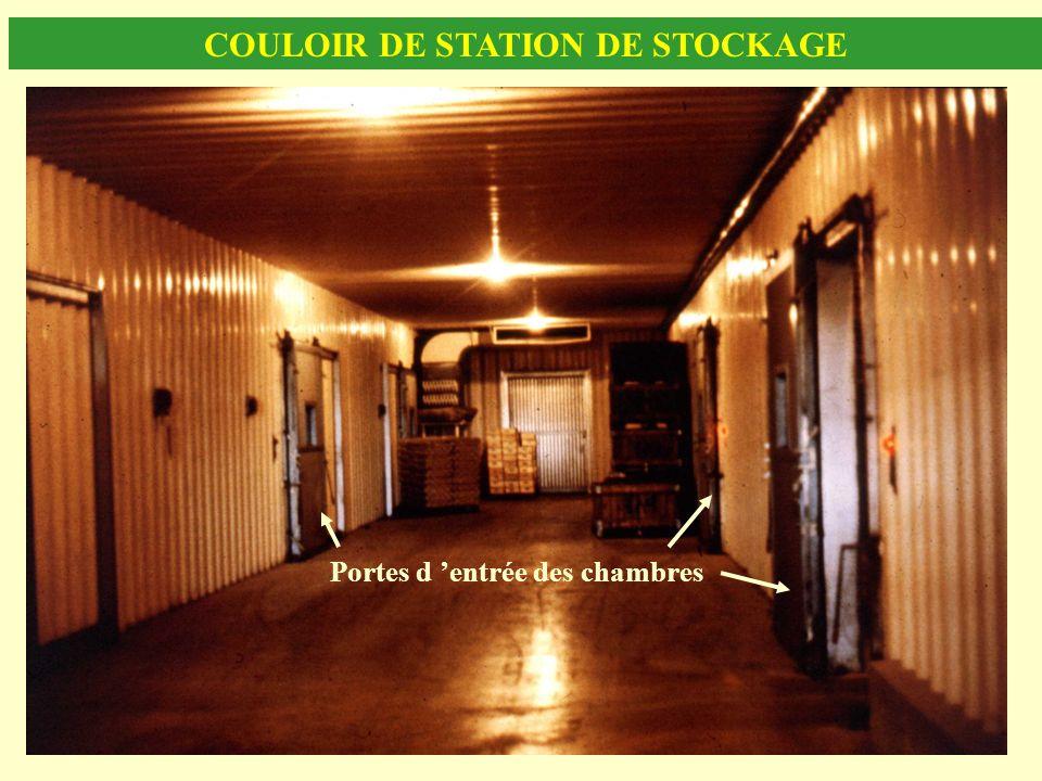 COULOIR DE STATION DE STOCKAGE Portes d entrée des chambres