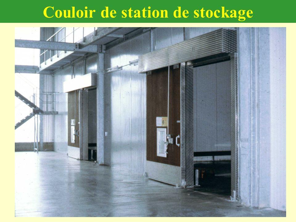 Couloir de station de stockage
