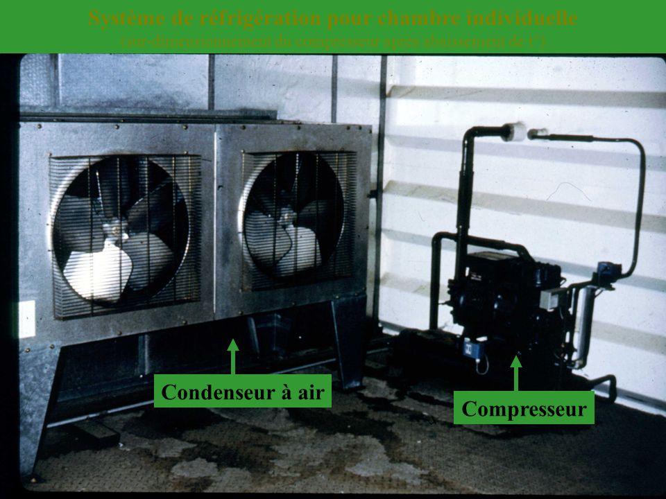 Condenseur à air Compresseur Système de réfrigération pour chambre individuelle (sur-dimensionnement du compresseur après abaissement de t°)