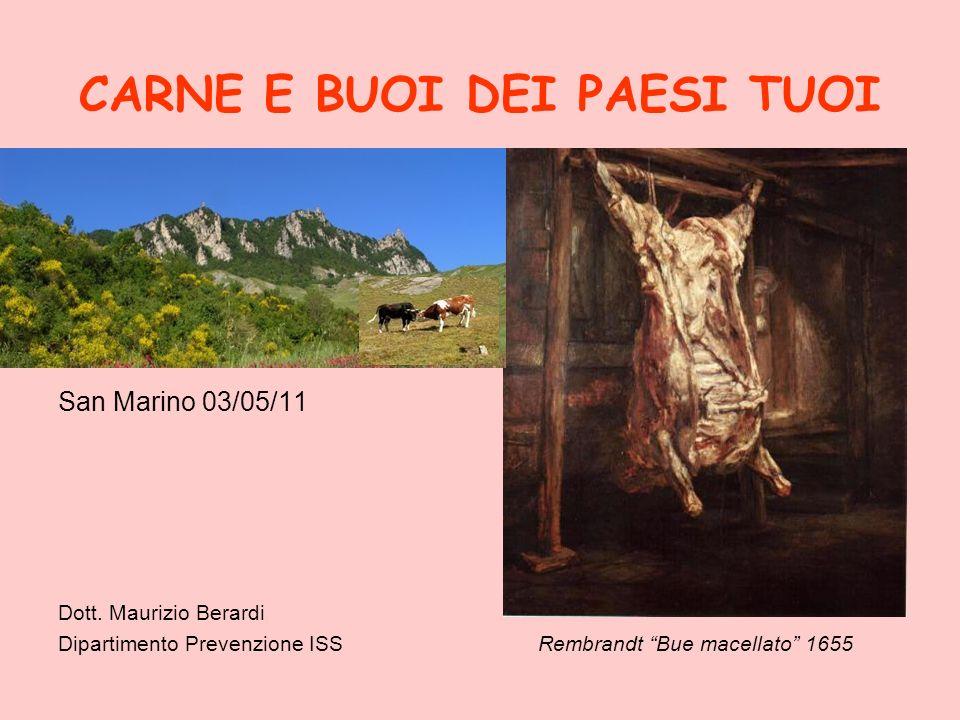CARNE E BUOI DEI PAESI TUOI San Marino 03/05/11 Dott. Maurizio Berardi Dipartimento Prevenzione ISSRembrandt Bue macellato 1655