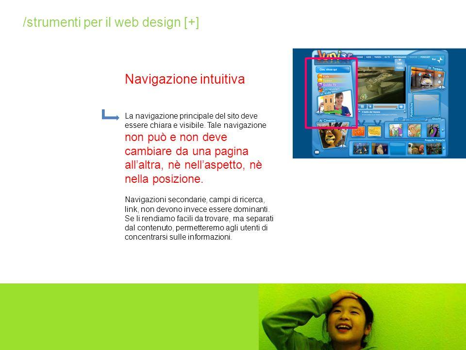 La homepage rappresenta il centro nevralgico, il cuore del sito e ne dichiara immediatamente carattere e obiettivi.