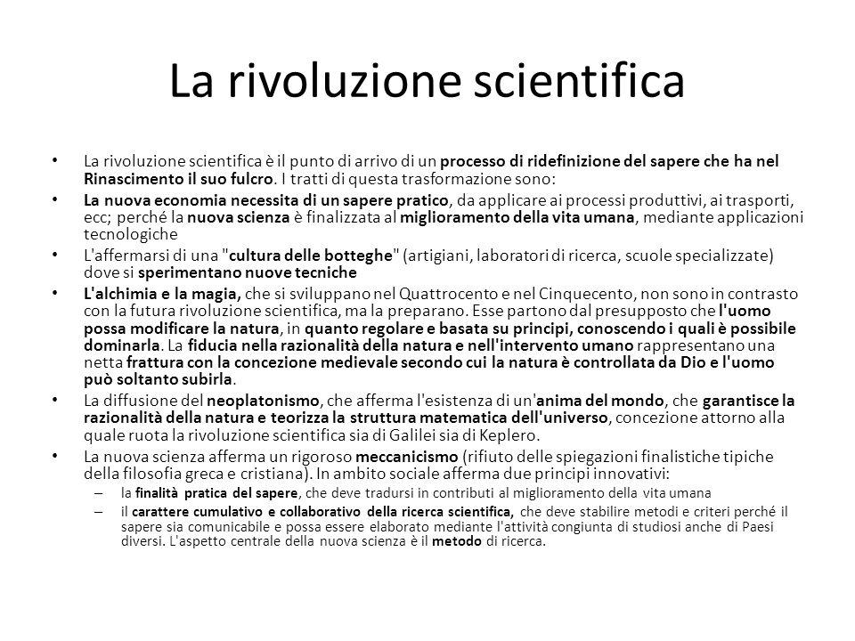 La rivoluzione scientifica La rivoluzione scientifica è il punto di arrivo di un processo di ridefinizione del sapere che ha nel Rinascimento il suo f