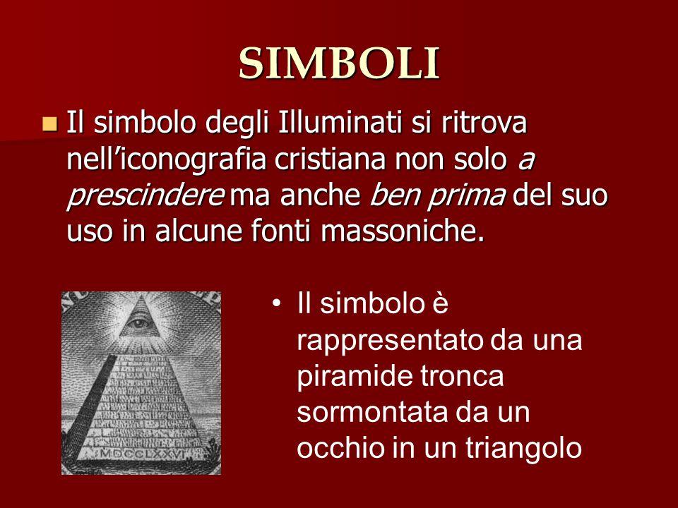 SIMBOLI Il simbolo degli Illuminati si ritrova nelliconografia cristiana non solo a prescindere ma anche ben prima del suo uso in alcune fonti massoni