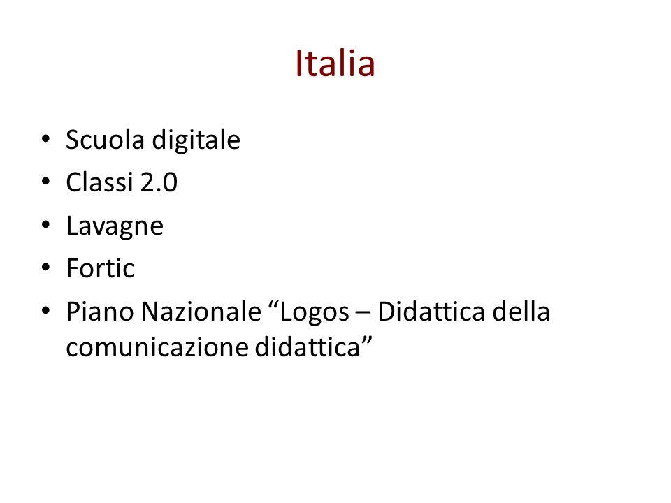 Italia Scuola digitale Classi 2.0 Lavagne Fortic Piano Nazionale Logos – Didattica della comunicazione didattica