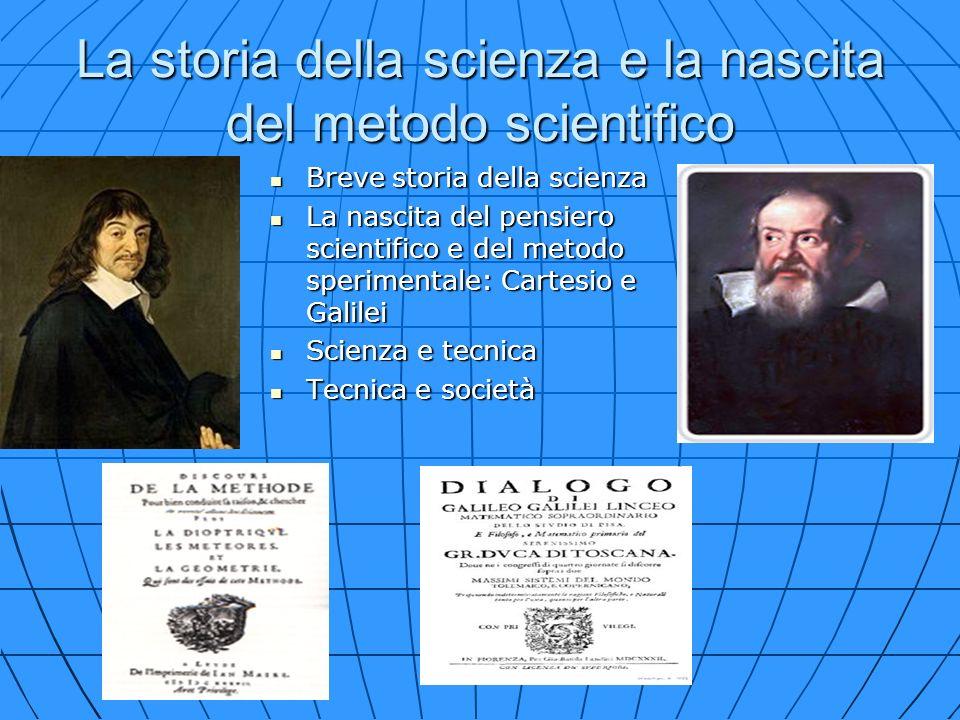 La storia della scienza e la nascita del metodo scientifico Breve storia della scienza Breve storia della scienza La nascita del pensiero scientifico