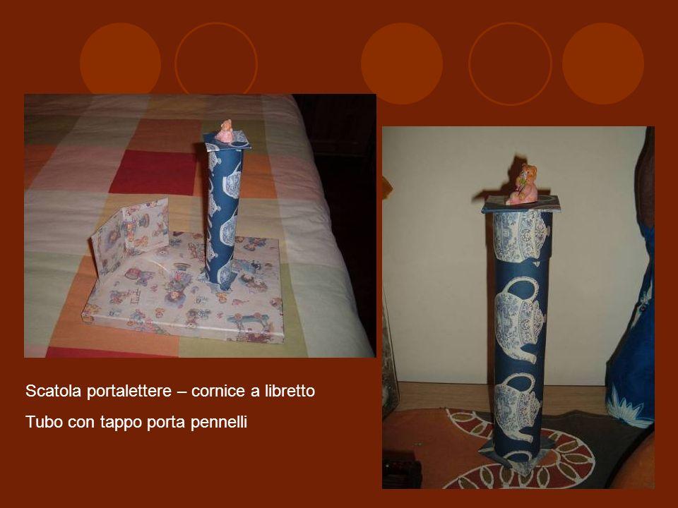 Scatola portalettere – cornice a libretto Tubo con tappo porta pennelli