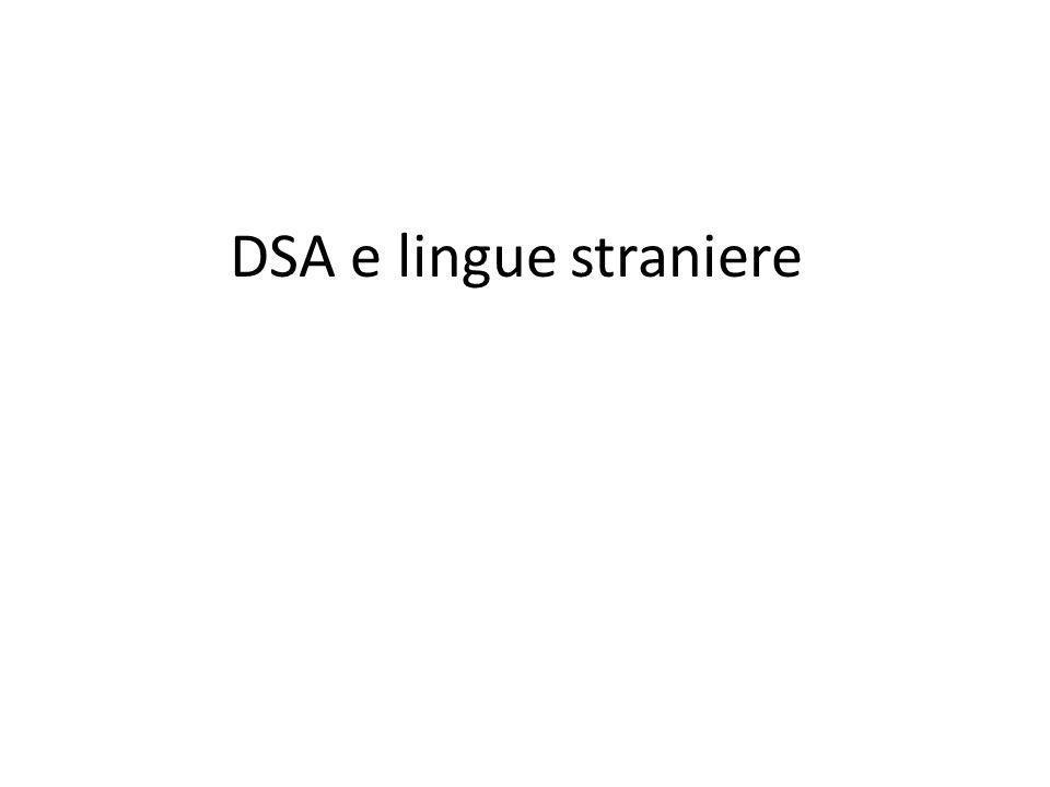 DSA e lingue straniere