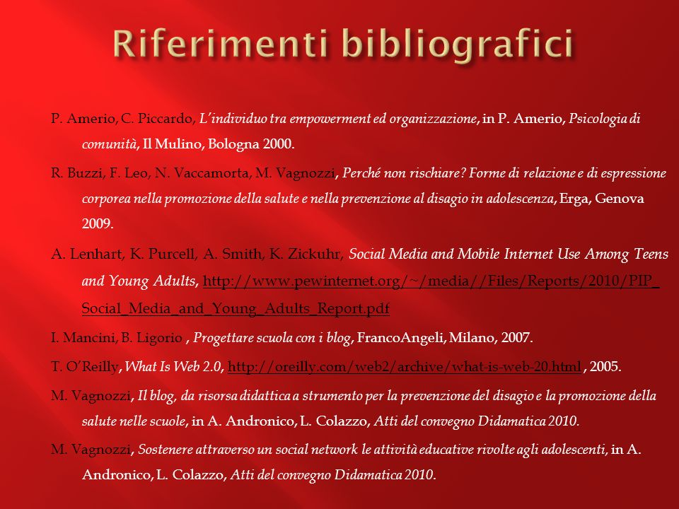 P.Amerio, C. Piccardo, Lindividuo tra empowerment ed organizzazione, in P.