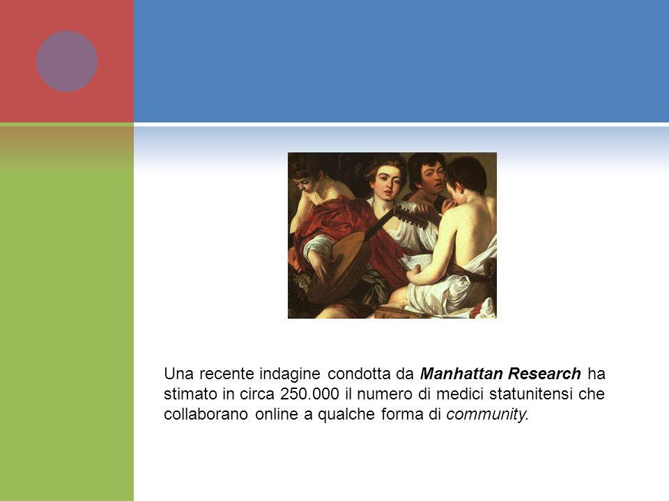 Una recente indagine condotta da Manhattan Research ha stimato in circa 250.000 il numero di medici statunitensi che collaborano online a qualche form