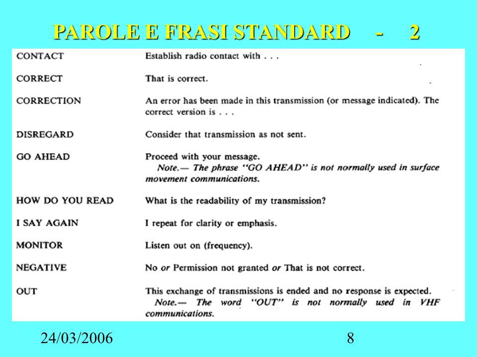 24/03/20069 PAROLE E FRASI STANDARD - 3