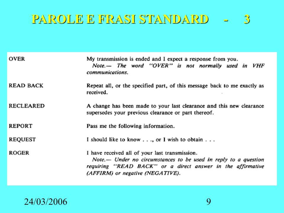 24/03/200610 PAROLE E FRASI STANDARD - 4