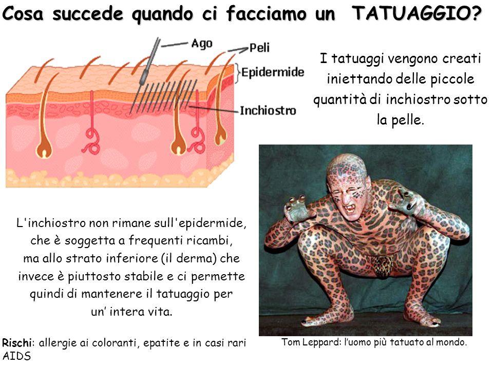 I tatuaggi vengono creati iniettando delle piccole quantità di inchiostro sotto la pelle. Cosa succede quando ci facciamo un TATUAGGIO? L'inchiostro n
