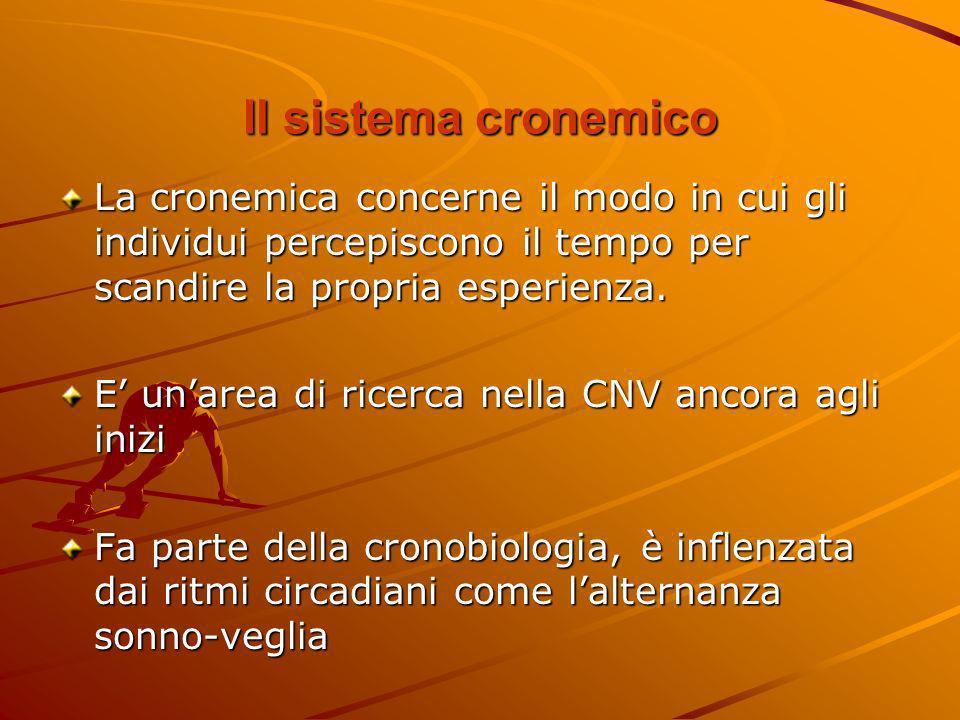 Il sistema cronemico La cronemica concerne il modo in cui gli individui percepiscono il tempo per scandire la propria esperienza. E unarea di ricerca
