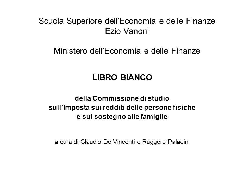 Scuola Superiore dellEconomia e delle Finanze Ezio Vanoni Ministero dellEconomia e delle Finanze LIBRO BIANCO della Commissione di studio sullImposta