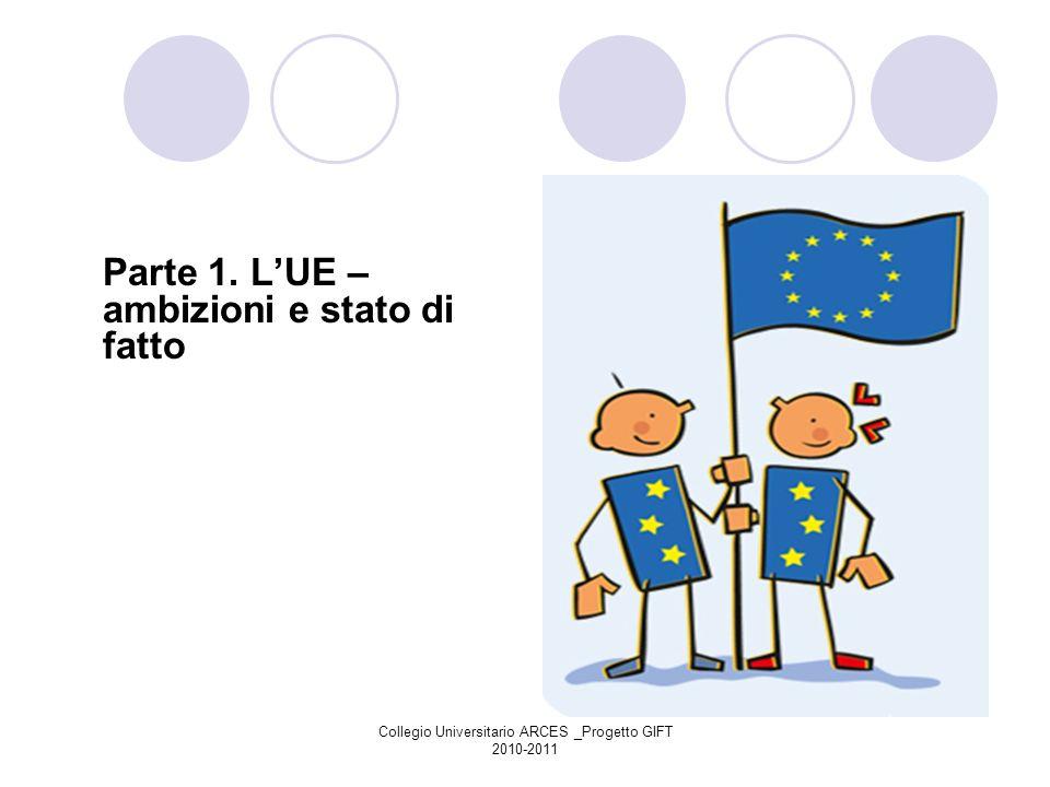 Collegio Universitario ARCES _Progetto GIFT 2010-2011 Parte 1. LUE – ambizioni e stato di fatto