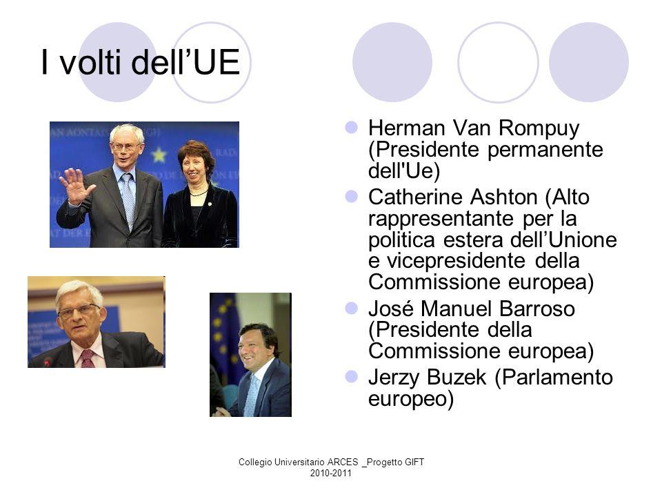 Collegio Universitario ARCES _Progetto GIFT 2010-2011 I volti dellUE Herman Van Rompuy (Presidente permanente dell'Ue) Catherine Ashton (Alto rapprese