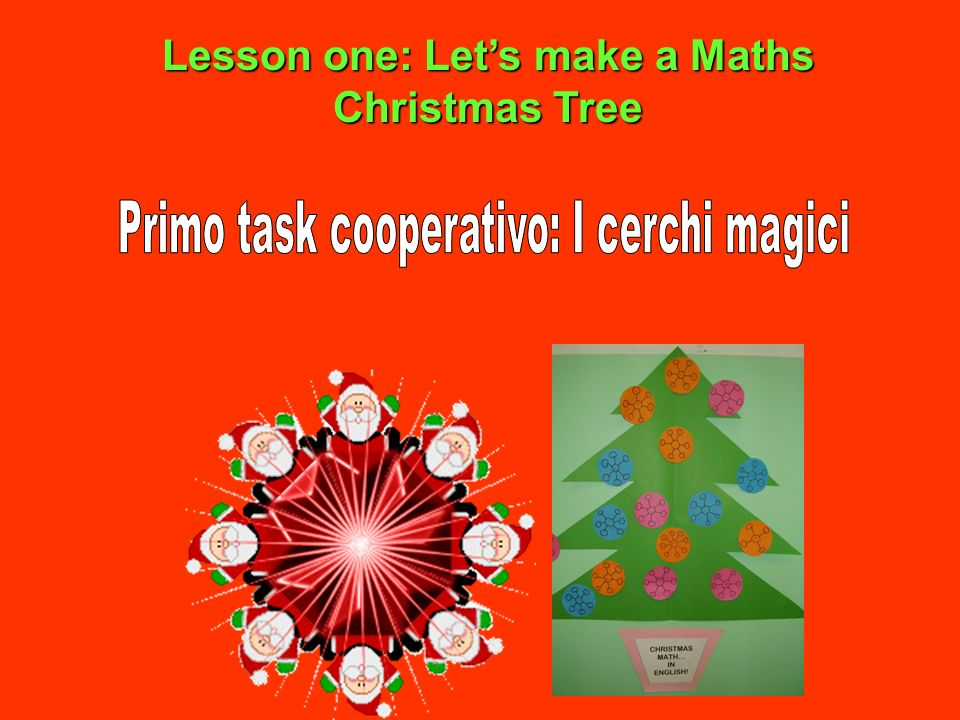 Lesson one: Lets make a Maths Christmas Tree
