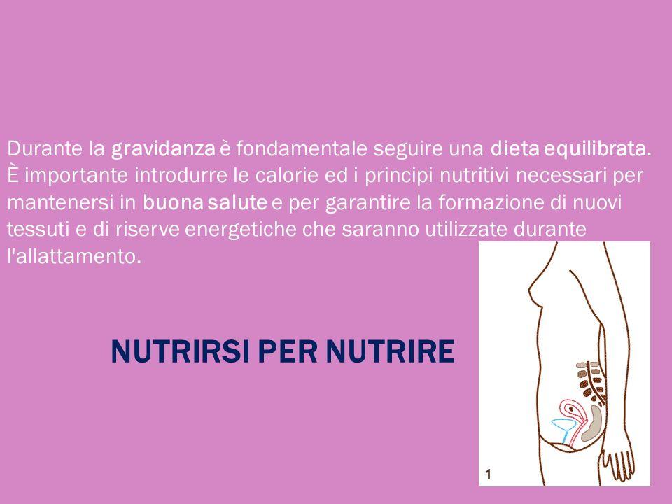 Durante la gravidanza è fondamentale seguire una dieta equilibrata. È importante introdurre le calorie ed i principi nutritivi necessari per manteners