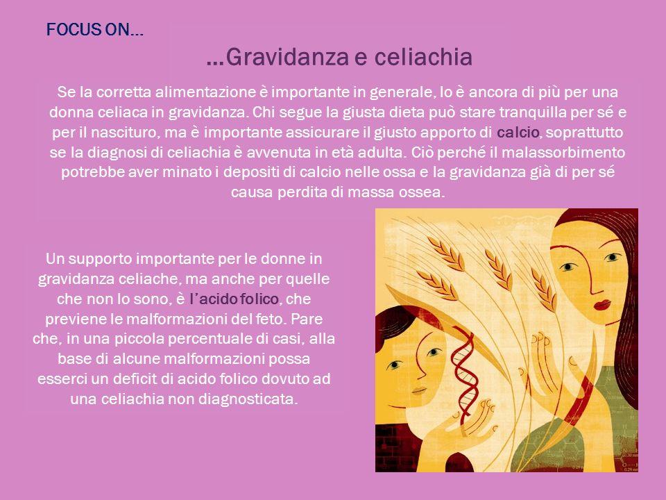 …Gravidanza e celiachia Se la corretta alimentazione è importante in generale, lo è ancora di più per una donna celiaca in gravidanza. Chi segue la gi