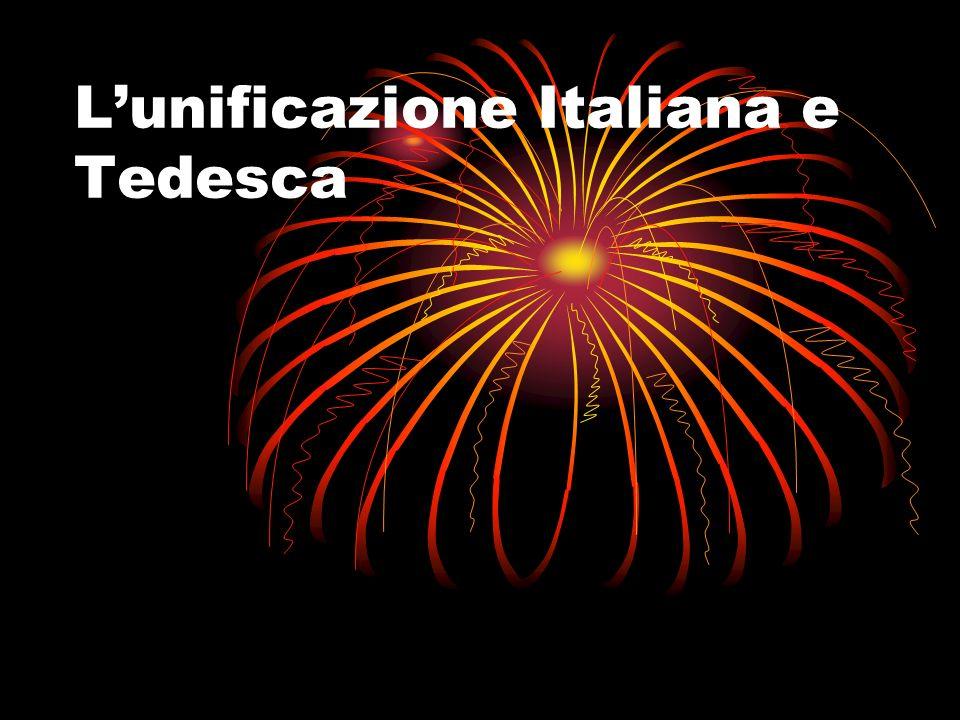 Lunificazione Italiana e Tedesca