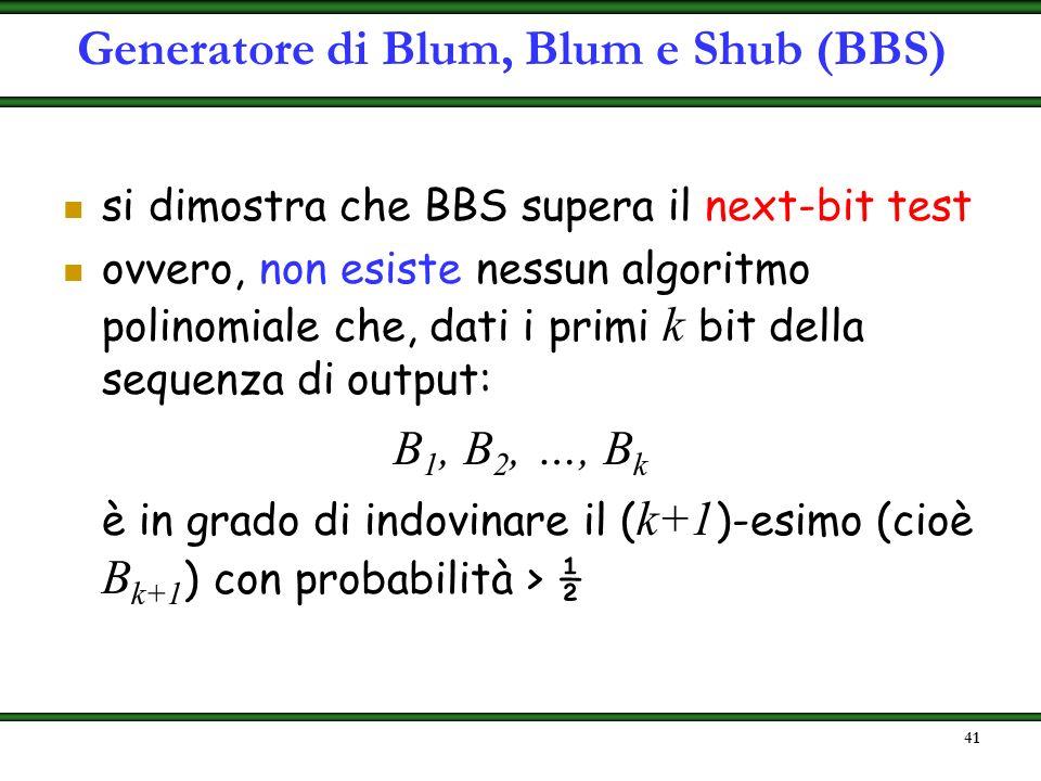 40 #define MAX_LUNG 256 void BBSgenerator(interoz[MAX_LUNG],intero l){ intero p,q; intero n,s; intero x[MAX_LUNGHEZZA]; do{ p=prime(1000,5000); while(