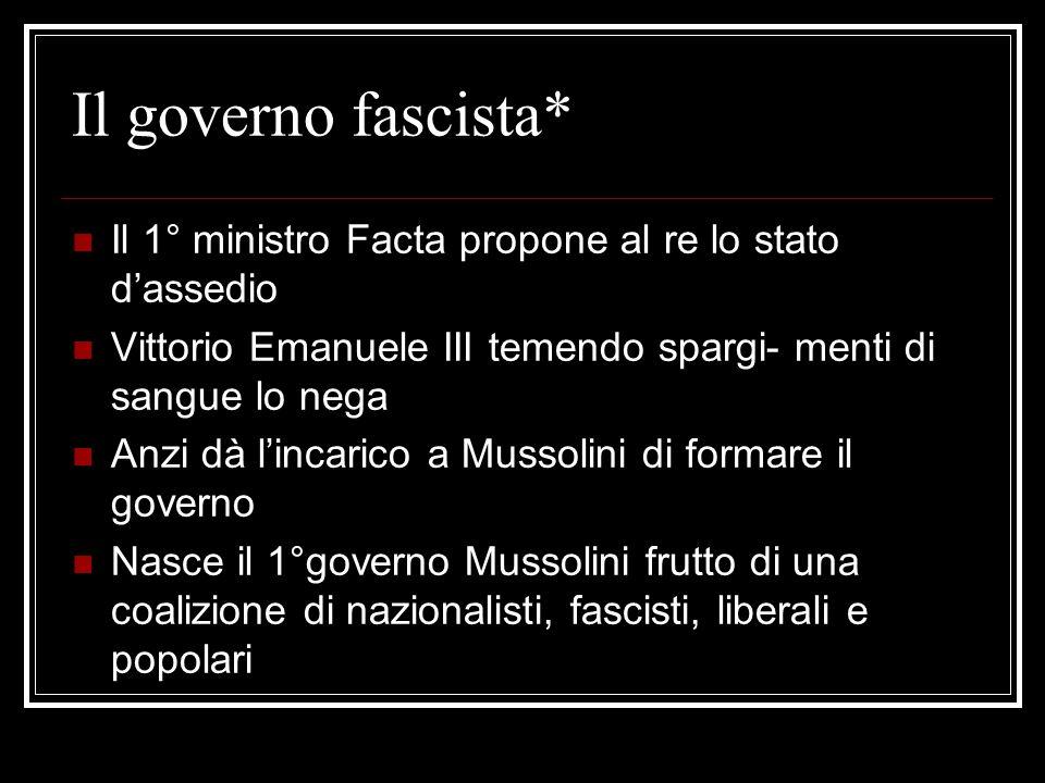 La Marcia su Roma Con un programma così conservatore Musso lini potè trattare il suo ingresso al Governo Mentre trattava con Giolitti pensava al golpe