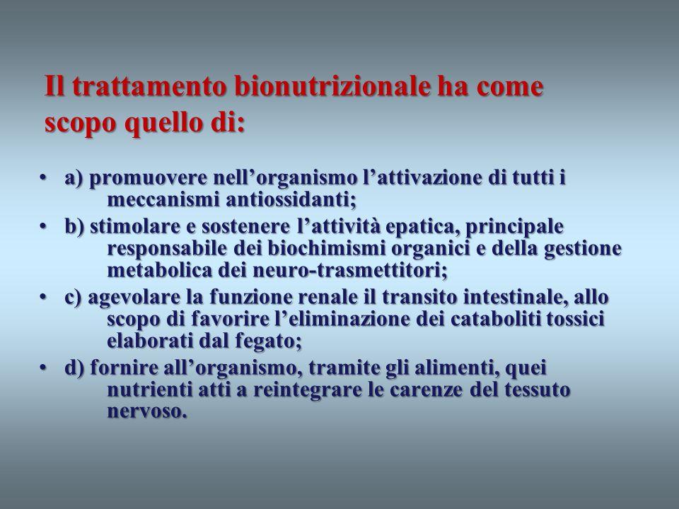 a) promuovere nellorganismo lattivazione di tutti i meccanismi antiossidanti;a) promuovere nellorganismo lattivazione di tutti i meccanismi antiossida