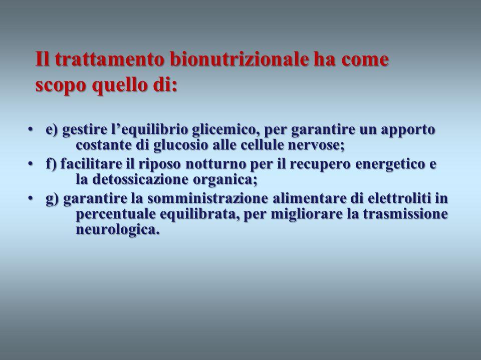 e) gestire lequilibrio glicemico, per garantire un apporto costante di glucosio alle cellule nervose;e) gestire lequilibrio glicemico, per garantire u