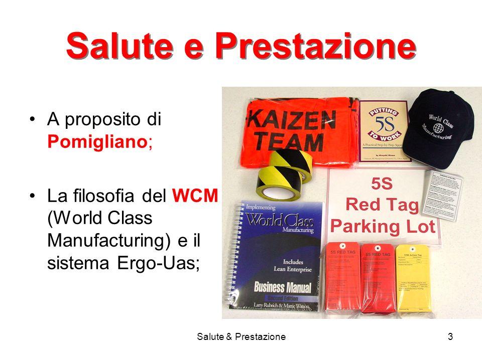 Salute & Prestazione3 Salute e Prestazione A proposito di Pomigliano; La filosofia del WCM (World Class Manufacturing) e il sistema Ergo-Uas;