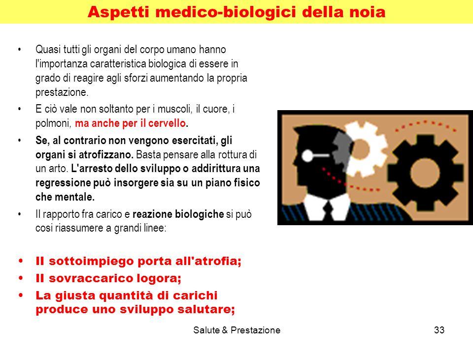 Salute & Prestazione33 Quasi tutti gli organi del corpo umano hanno l importanza caratteristica biologica di essere in grado di reagire agli sforzi aumentando la propria prestazione.