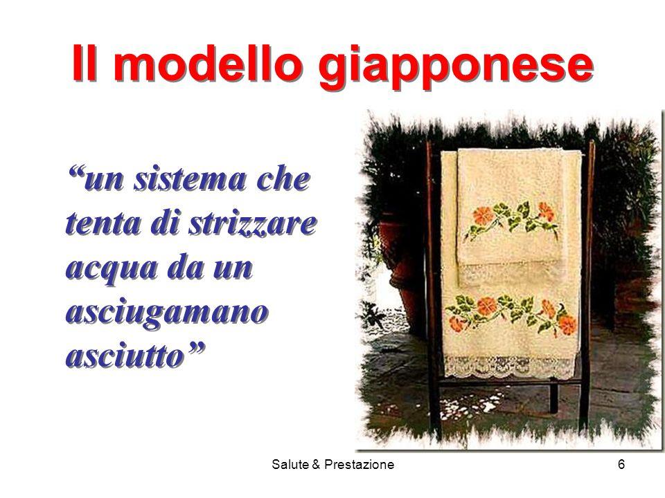 Salute & Prestazione6 Il modello giapponese un sistema che tenta di strizzare acqua da un asciugamano asciutto