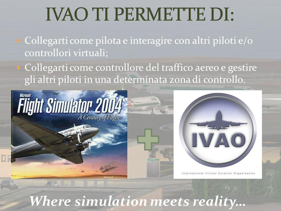 Collegarti come pilota e interagire con altri piloti e/o controllori virtuali; Collegarti come controllore del traffico aereo e gestire gli altri pilo