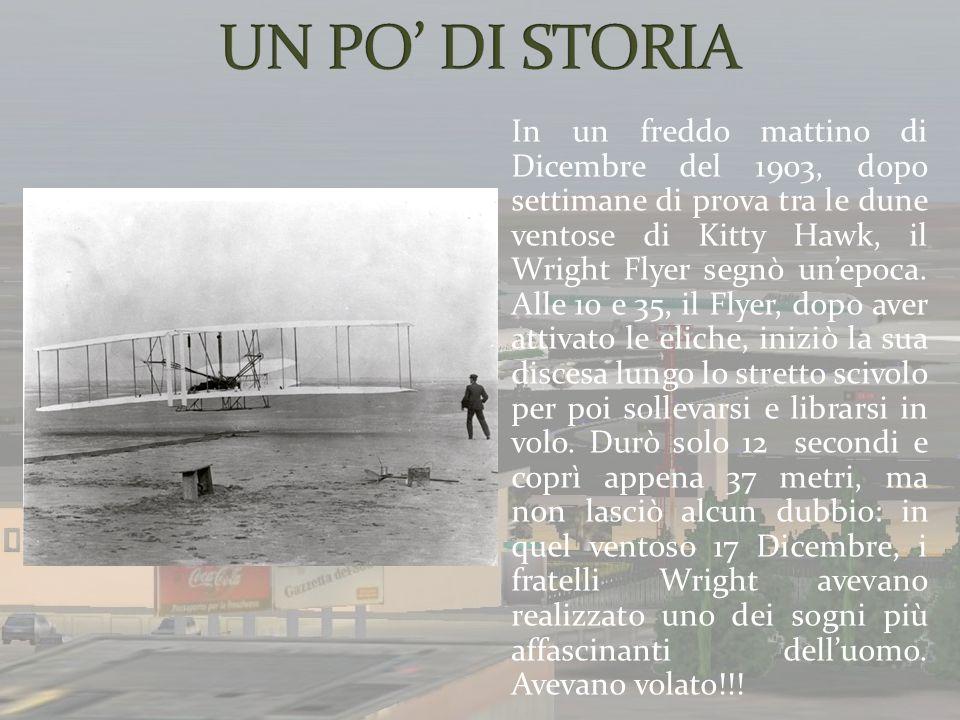 In un freddo mattino di Dicembre del 1903, dopo settimane di prova tra le dune ventose di Kitty Hawk, il Wright Flyer segnò unepoca. Alle 10 e 35, il