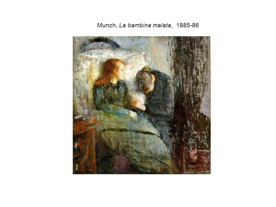 Munch, La bambina malata, 1885-86