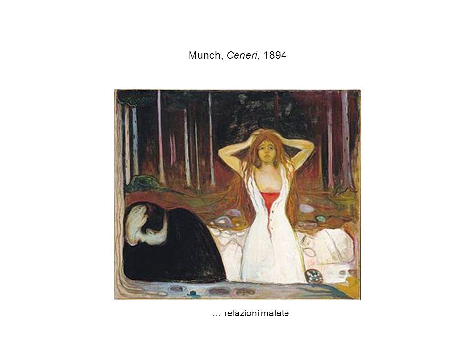 Munch, Ceneri, 1894 … relazioni malate