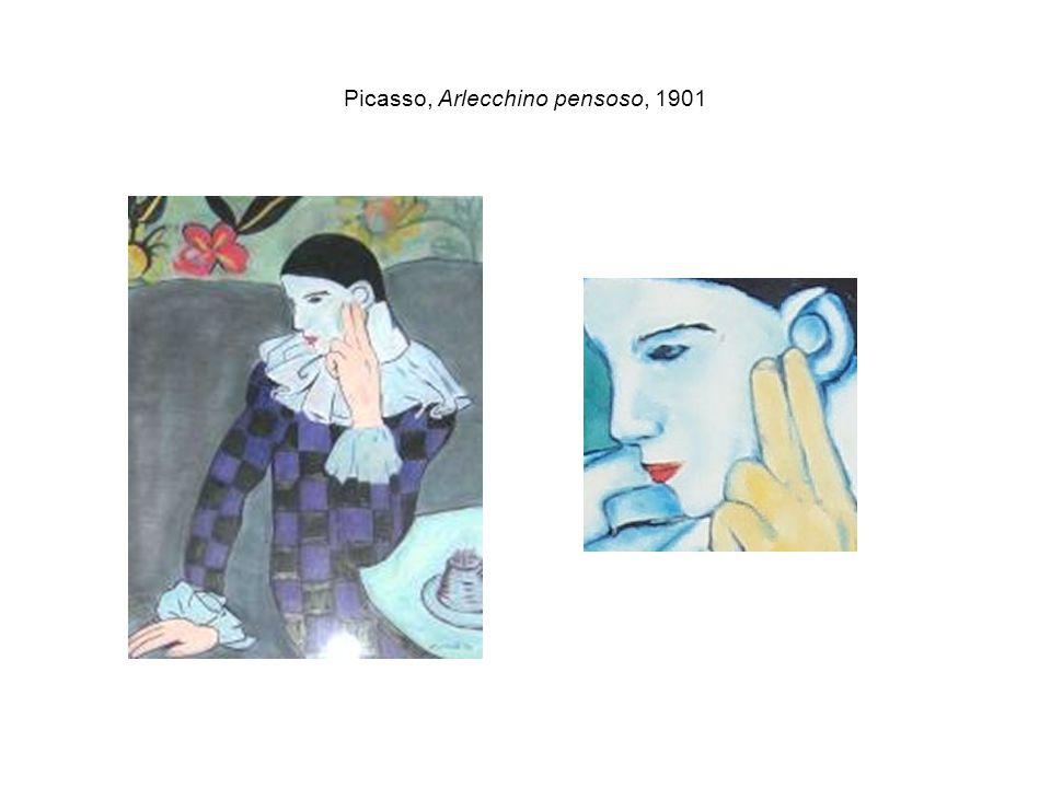 Picasso, Arlecchino pensoso, 1901