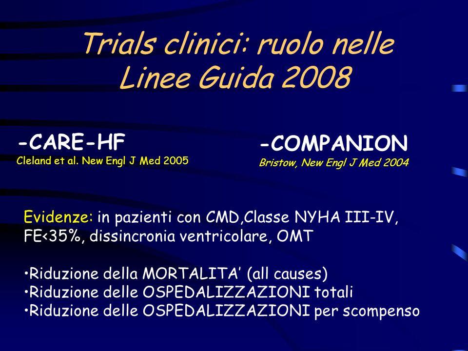 Linee Guida 2008: Classe IA