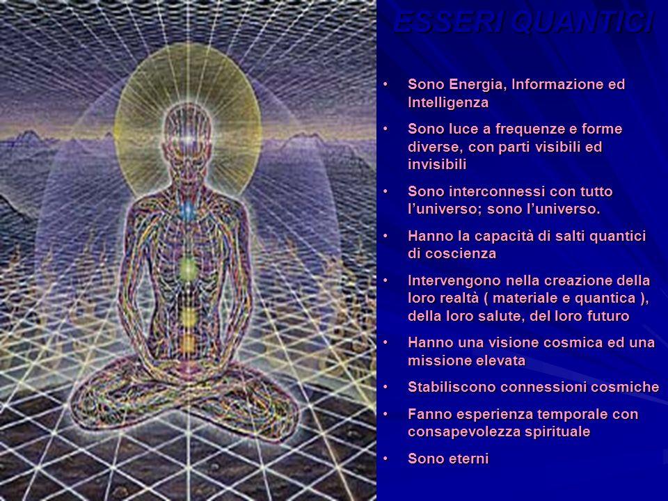 ESSERI QUANTICI Sono Energia, Informazione ed IntelligenzaSono Energia, Informazione ed Intelligenza Sono luce a frequenze e forme diverse, con parti