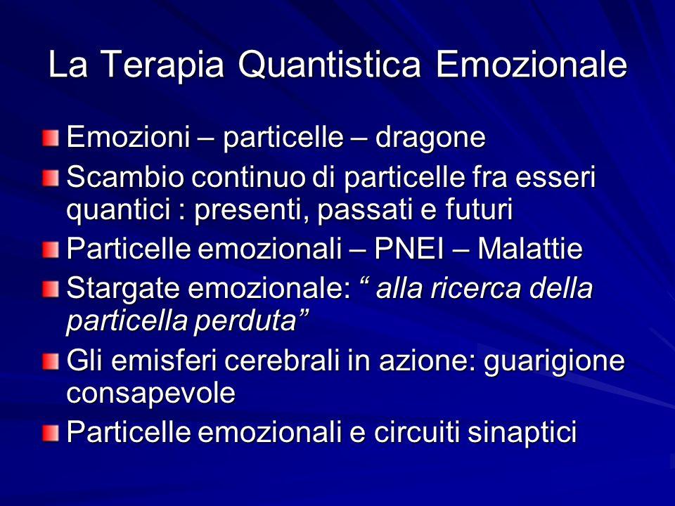 La Terapia Quantistica Emozionale Emozioni – particelle – dragone Scambio continuo di particelle fra esseri quantici : presenti, passati e futuri Part