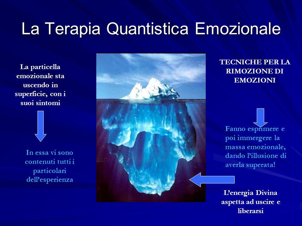 La Terapia Quantistica Emozionale La particella emozionale sta uscendo in superficie, con i suoi sintomi TECNICHE PER LA RIMOZIONE DI EMOZIONI Fanno e