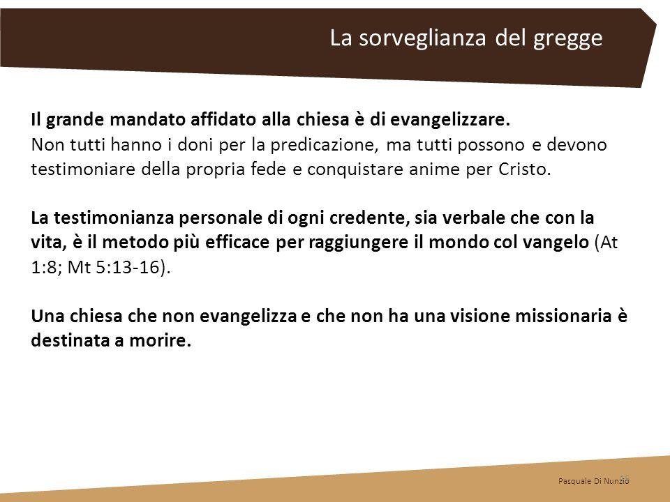 Il grande mandato affidato alla chiesa è di evangelizzare. Non tutti hanno i doni per la predicazione, ma tutti possono e devono testimoniare della pr
