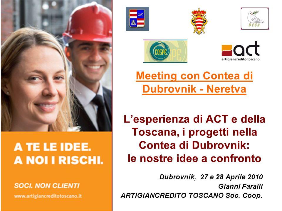 Meeting con Contea di Dubrovnik - Neretva Lesperienza di ACT e della Toscana, i progetti nella Contea di Dubrovnik: le nostre idee a confronto Dubrovn