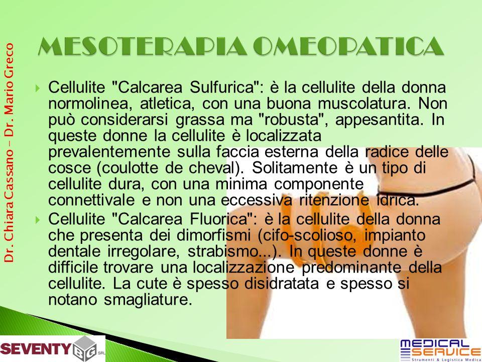 Cellulite Calcarea Sulfurica : è la cellulite della donna normolinea, atletica, con una buona muscolatura.