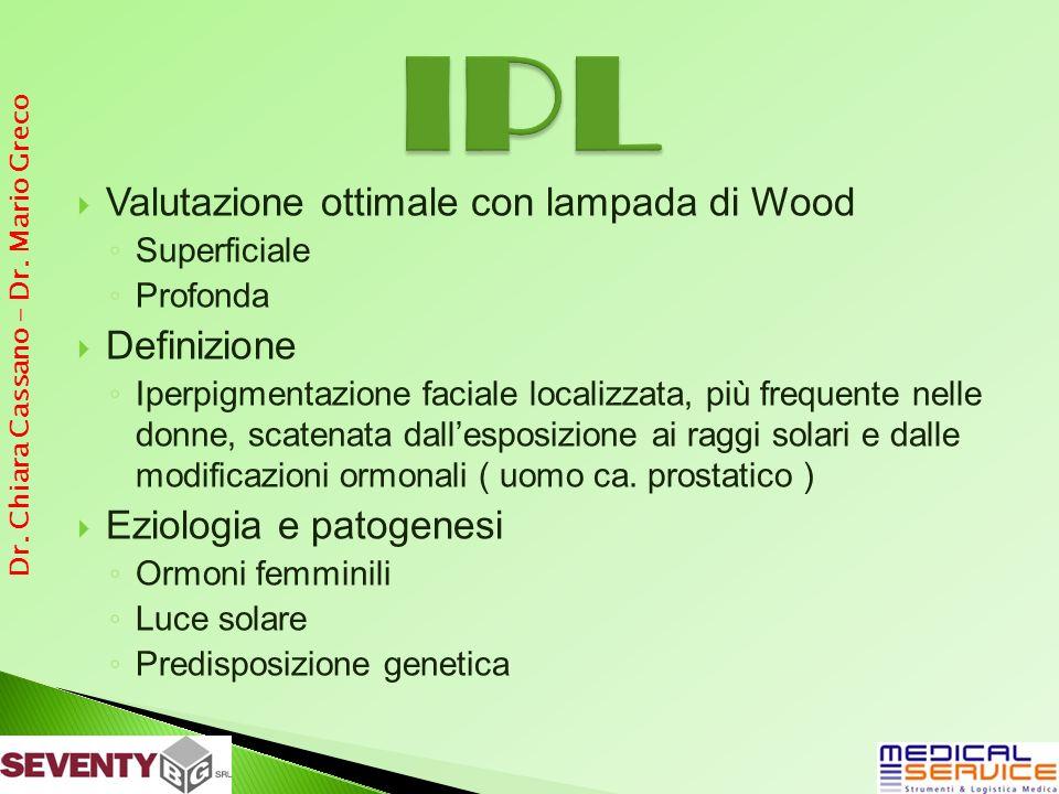 Valutazione ottimale con lampada di Wood Superficiale Profonda Definizione Iperpigmentazione faciale localizzata, più frequente nelle donne, scatenata