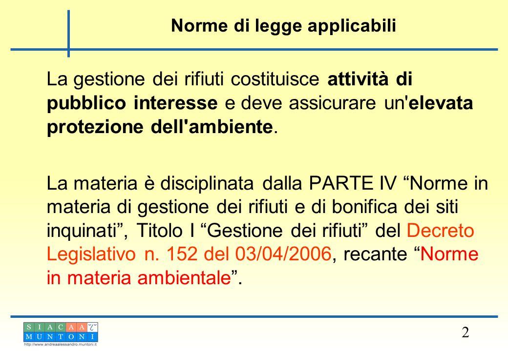 Definizione di rifiuto RIFIUTO > 3