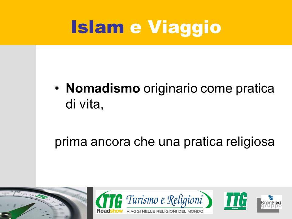 Nomadismo originario come pratica di vita, prima ancora che una pratica religiosa Islam e Viaggio